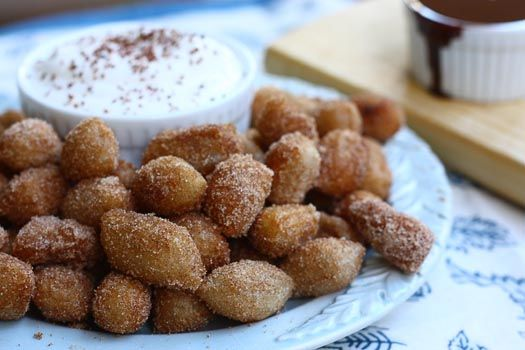 Churro Tots!  Gift for husband for our anniversary.  This would be a perfect dessert for him!
