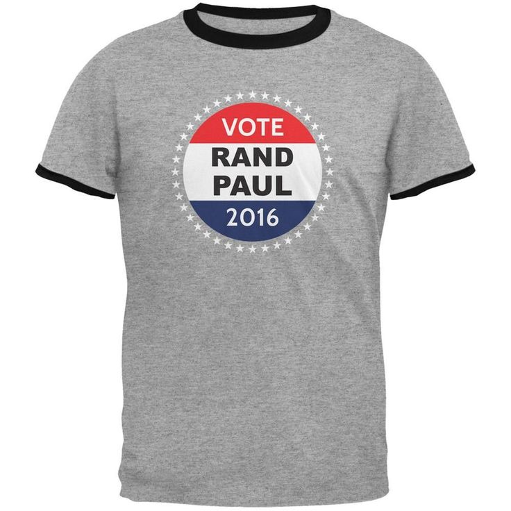 Election 2016 Rand Paul Badge Heather/Black Men's Ringer T-Shirt