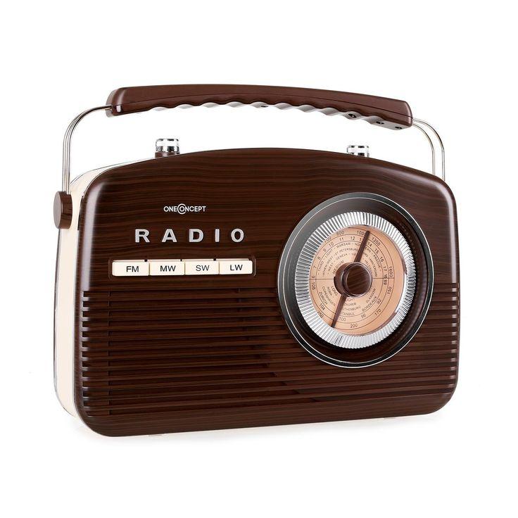 oneconcept nr-12 - radio de cuisine am/fm rétro 50's feeling