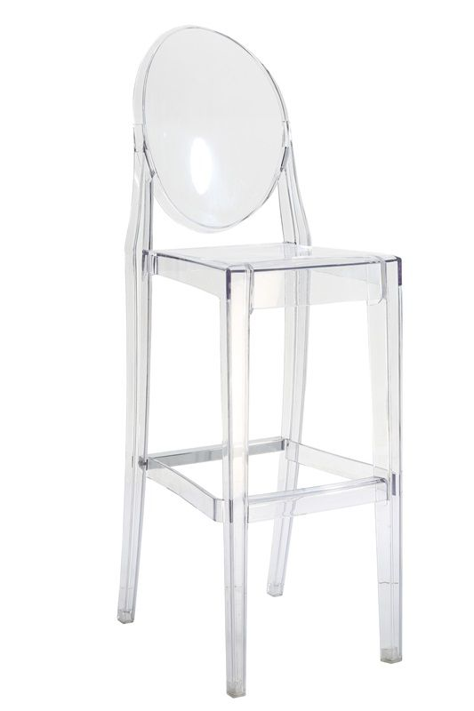 Beautiful transparent finish, One piece molded strong polycarbonate design, UV resistance to reduce discoloration, Stronger than acrylic and with more scratch resistance, Can be used indoor or outdoor, Chairs were successfully tested to 500 lbs. in a static load test, Stacks 4 high, Protective chair cover suggested during stacking, Manufacturer's 3 Year Limited Warranty