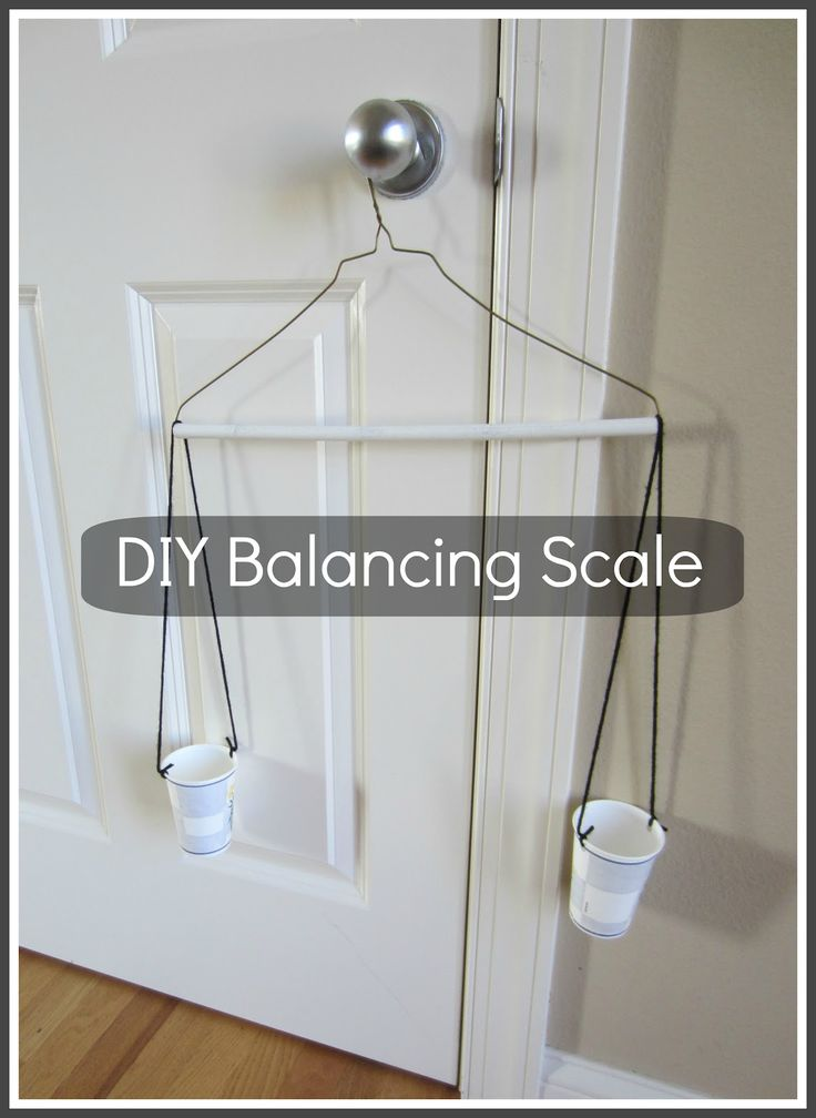 Relentlessly Fun, Deceptively Educational: DIY Balancing Scale. Genius!