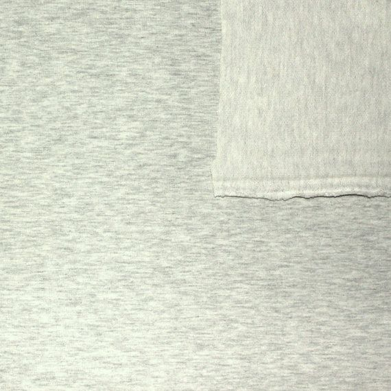 Solid Heathered Oatmeal French Terry Knit Fabric With Spandex, 1 Yard