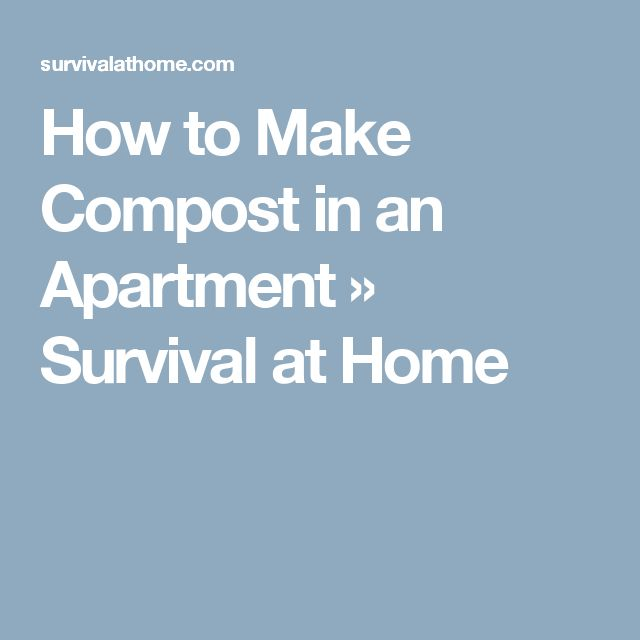 how to make a compoust at home