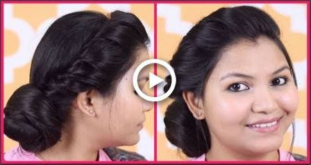 Side puff for thin hair/quick and easy 1 minute simple every day hair style with puff