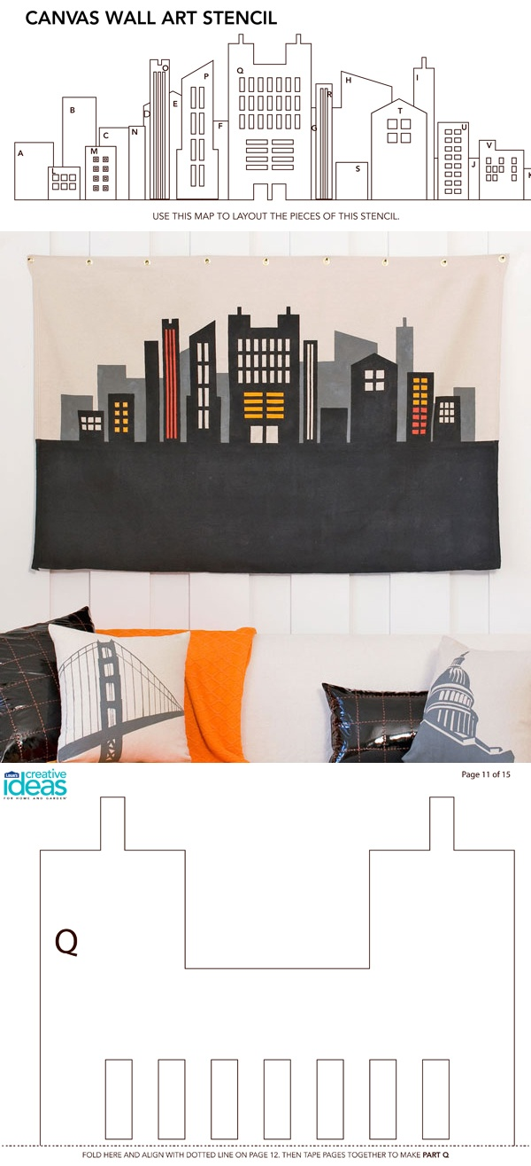 119 best images about canvas paint ideas templates on for Kitchen cabinets lowes with wall art cityscape