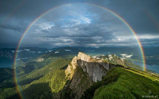 Rainbow over Schafberg, Austria (104 pieces)
