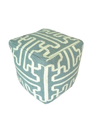68% OFF Boheme Collection Wool Cotton Pouf, Cube, Multi