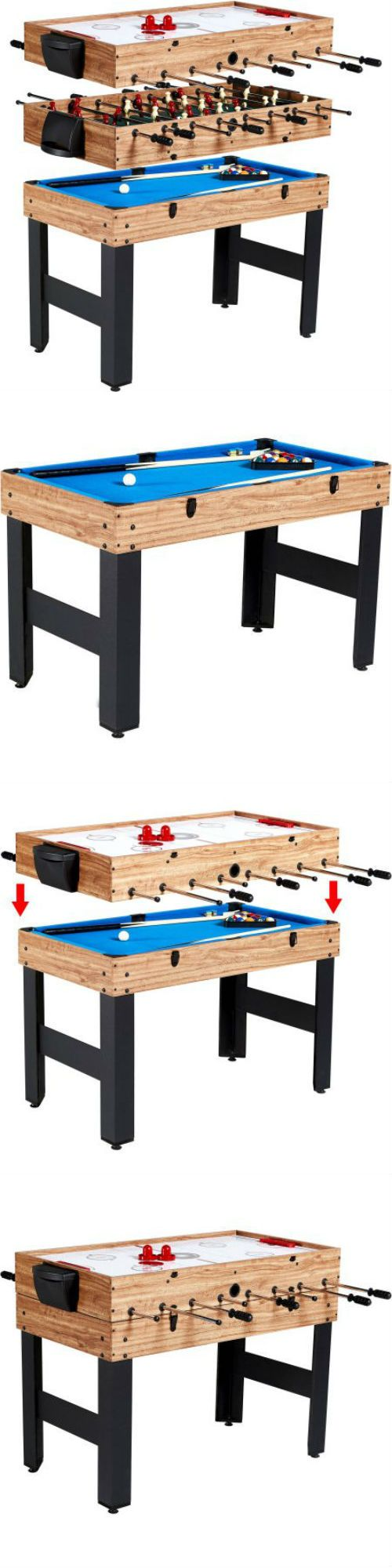 Air Hockey 36275: Md Sports 48 3-In-1 Combo Tablesports Multi Game Slide Hockey Soccer Billiards BUY IT NOW ONLY: $112.84