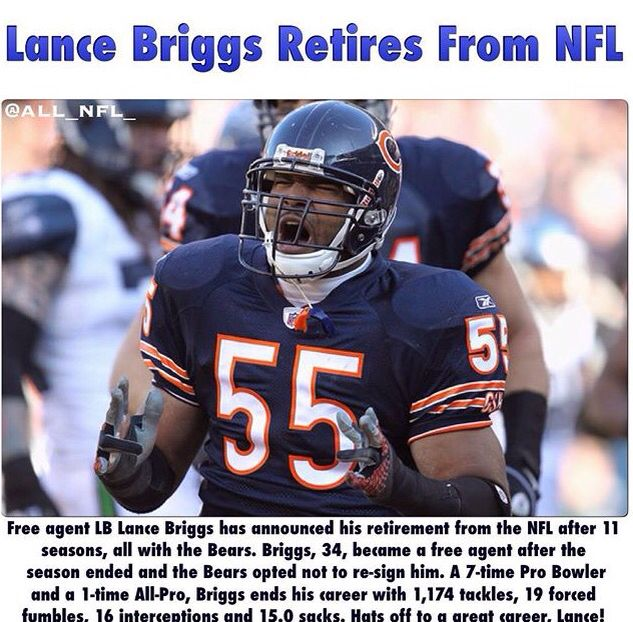 NFL Jersey's Pro Line Mens Chicago Bears Lance Briggs Big & Tall Team Color Jersey