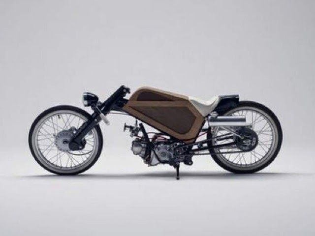 custom honda cub | Honda Cub Racer | Cone Custom Cycles Custom Honda Cub with a custom ...