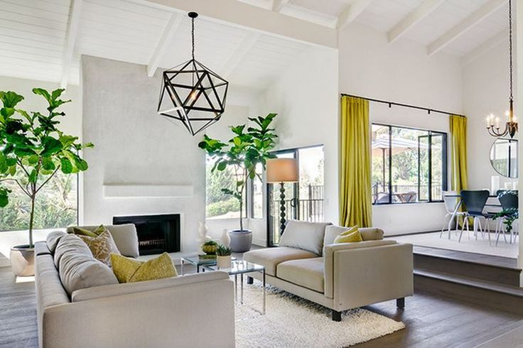 17 beste idee n over gele woonkamers op pinterest meubel idee n muurschilderingen en gele tafel - Kleur verf moderne woonkamer ...