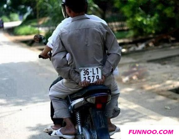 Motorcycle Number Plates Funny Pic