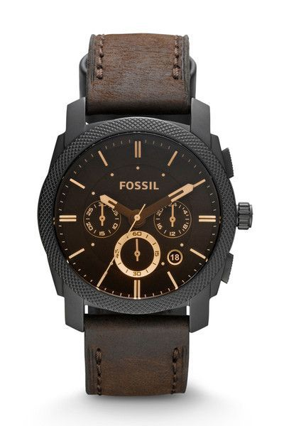 578f4a58942d Fossil Machine Mid-Size Chronograph Leather Watch - Brown