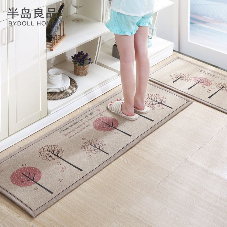Set Linen Kitchen Mat Home Entrance/Hallway Doormat Anti-Slip Bathroom Carpet //Price: $39.97 & FREE Shipping //     #home #decor #party #textile #storage