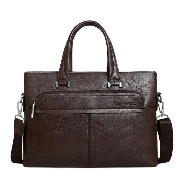 Men PU Business Crossbody Bag Outdoor Handbag Briefcase - US$29.89  #men #women  #bags #fashion