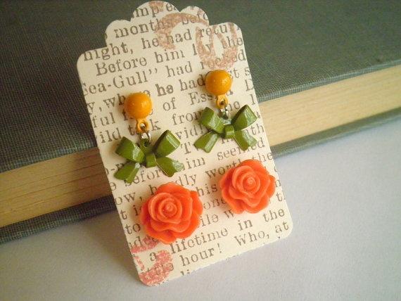 Like the earring card display idea / Earrings for sale on Etsy