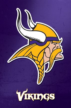 Minnesota Vikings NFL Team Logo Football Poster