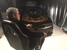 "Burt Reynolds introduces the new ""2017 Bandit"" Trans Am #transam #bandit #burtreynolds #smokey #smokeyandthebandit #bandittransam #firebird"
