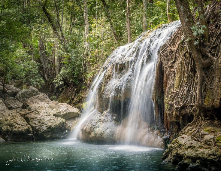 This are the hot springs in the jungle near Morales, Guatemala. It's a pleasure to take a bath in this warm waters. Camera Nikon D600, exp 1/5 sec at f/18, ISO 160.