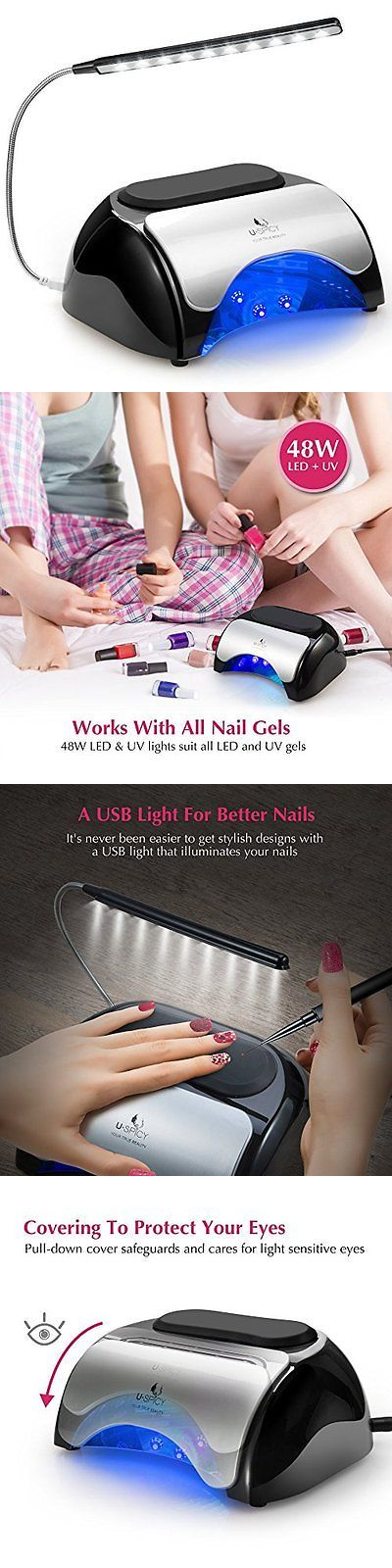Nail Dryers and UV LED Lamps: Led Uv Nail Dryer Uspicy 48W Led Uv Nail Lamp For Gel Based Polishes With Cover, -> BUY IT NOW ONLY: $48.19 on eBay!