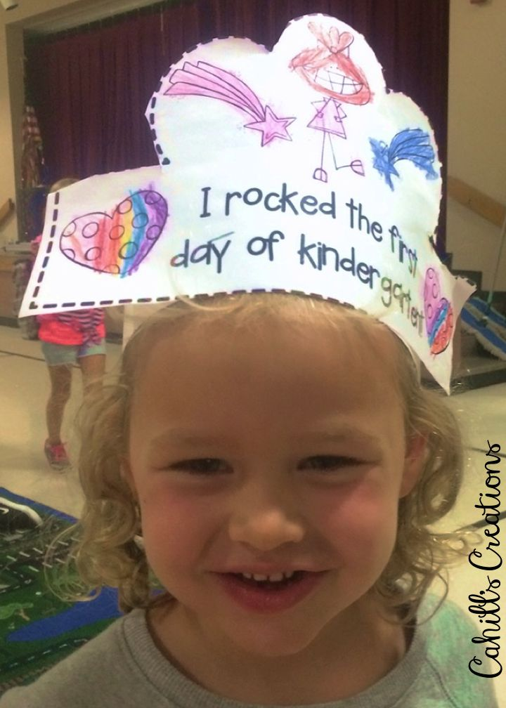 First Day of School Crown! https://www.teacherspayteachers.com/Product/First-Week-of-Kindergarten-1987863
