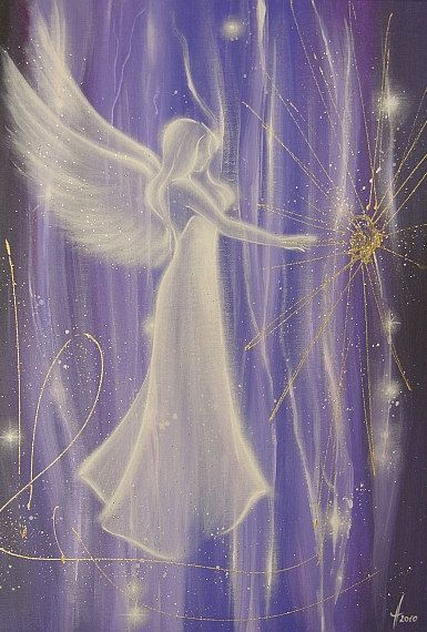 Limited angel art photo angel charm modern angel by HenriettesART