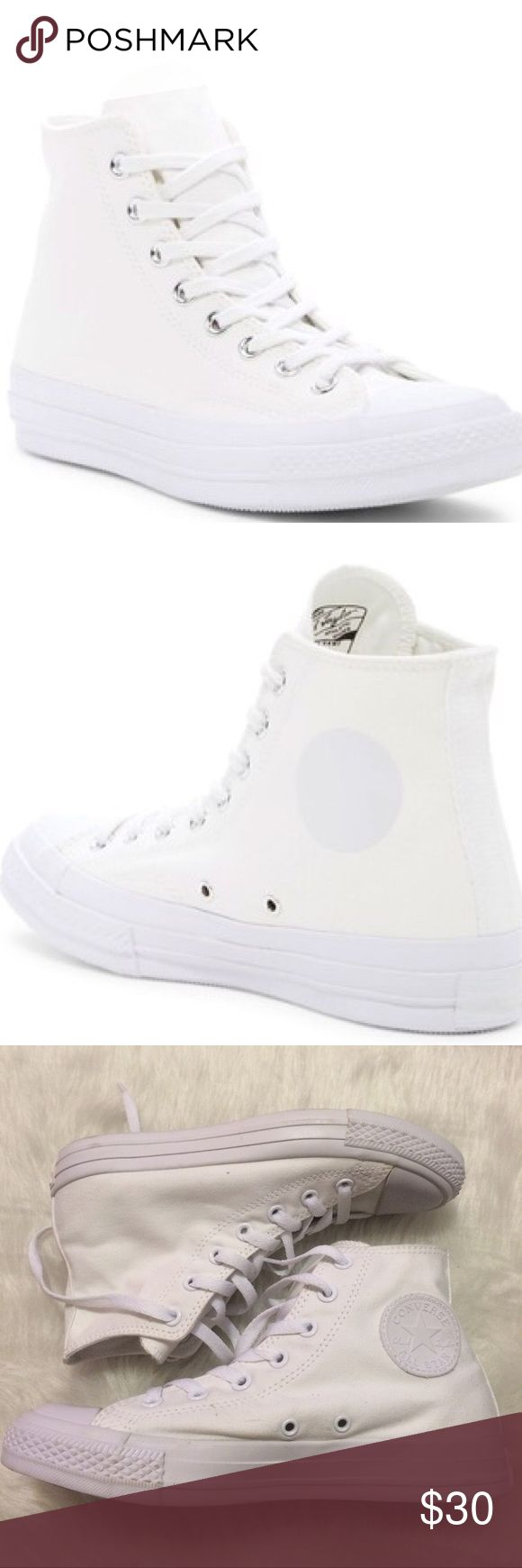 🎉1 HOUR SALE! Converse Mens size 10 all white No box Converse Shoes Sneakers