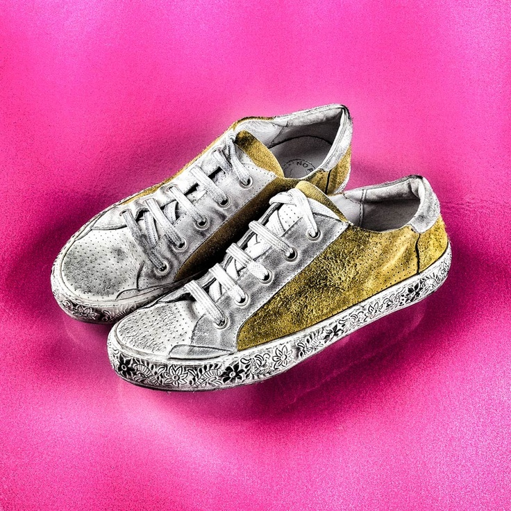 Road, odeon #white #yellow #leather #sneakers