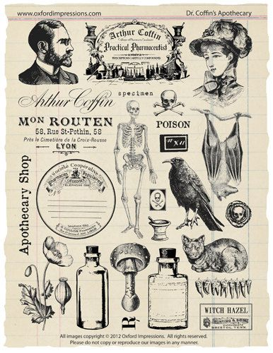 005 Apothecary Rubber Stamp Collection Products Art, Stamp