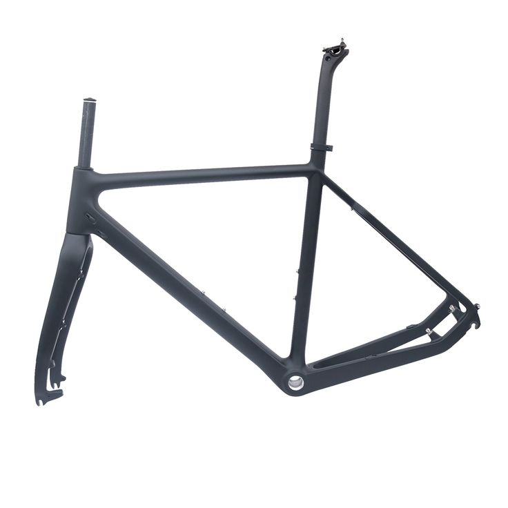 2017 FCFB no logo UD T800 carbon road frame Cyclo-Cross carbon bike frame matt balck 51/53/55cm BSA road dics bicycle frame #Affiliate