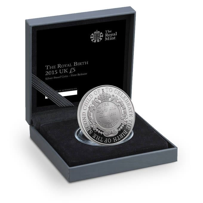 The Royal Birth 2015 United Kingdom 5 Silver Proof Coin: 145 Best Images About Royal Babies On Pinterest