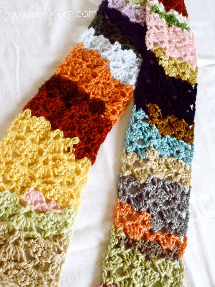 Things to Make: Stashbuster Crochet Scarf - Free Pattern! | Sarahndipities