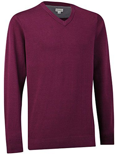 Ashworth Mens Pima VNeck Sweater Purple L ** Details can be found by clicking on the image. Note:It is Affiliate Link to Amazon.