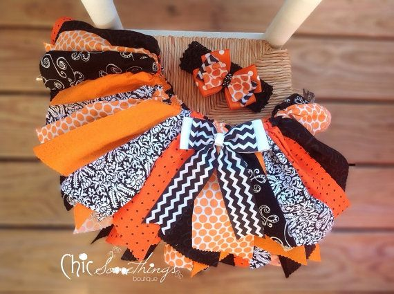 Halloween Fabric Tutu, Smell My Feet, Shabby Chic Fabric Tutu, Photo Prop Tutu, Toddler, Halloween tutu, Halloween costume, orange black on Etsy, $30.00