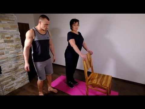 Cvičení pro seniory 1 - nohy, zadek, břicho, core. - YouTube
