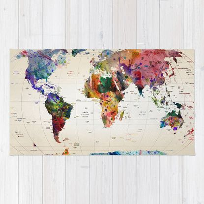 map Rug by Mark Ashkenazi | Society6