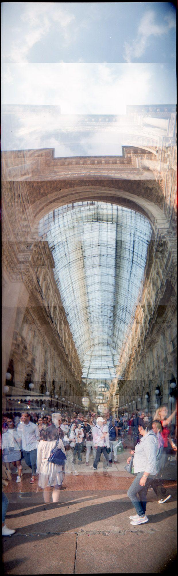 Galleria Vittorio Emanuele II Milano - Holgagraphy vertical Panorama