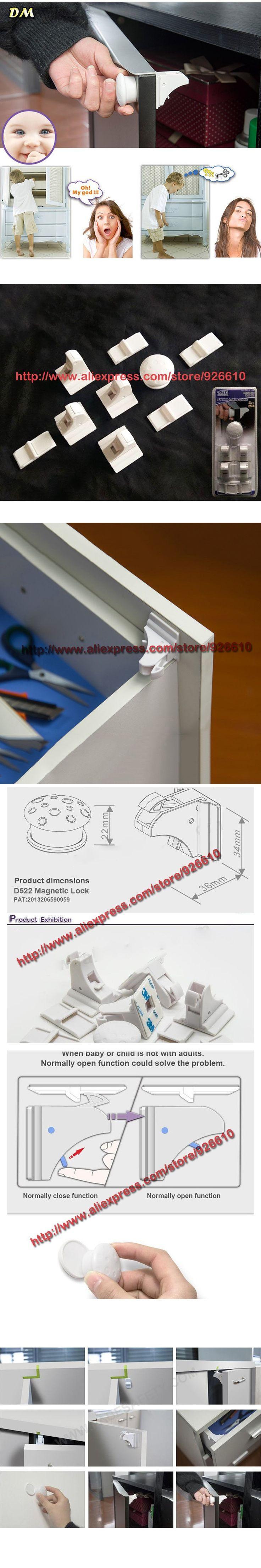 10sets/lot magnetic locking system Magnetic Tot Lok Complete Set baby child kids safety magnetic lock (1key+4 locks)/set $116