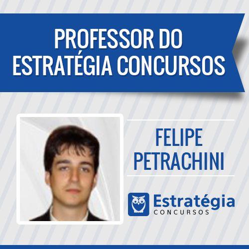 Felipe Petrachini é professor de Arquivologia, Administração de Recursos Materiais e Logística. Formado em Direito pela Universidade de São Paulo em 2011, logrou êxito no concurso de Agente Fiscal de Rendas do Estado de São Paulo, realizado em 2013, cargo que atualmente exerce. https://www.estrategiaconcursos.com.br/professor/felipe-petrachini-3270/