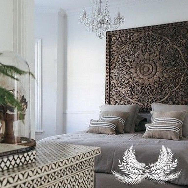 An Exotic Touch To The Bedroom