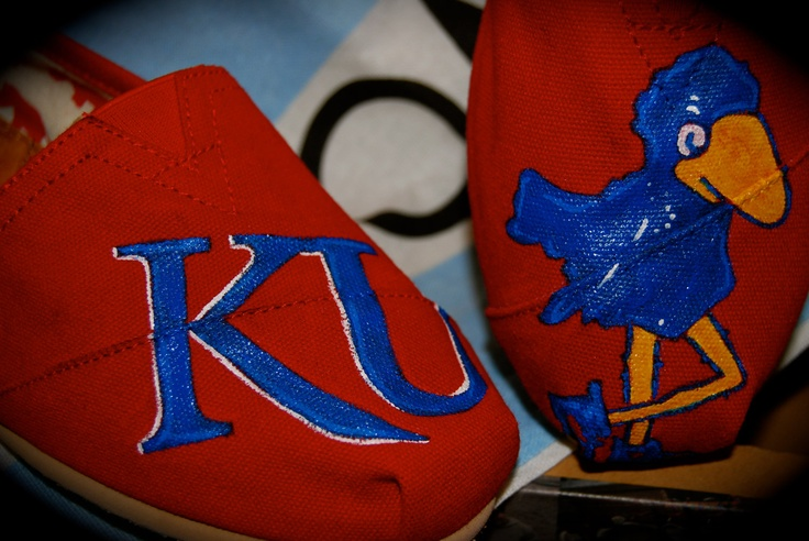 Consider these bought. Rock Chalk TOMS. $95.00, via Etsy.