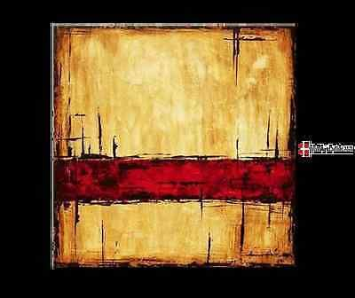 расписанный вручную Fade to оранжевый абстрактного искусства стены decor-framed холст масло картина NL