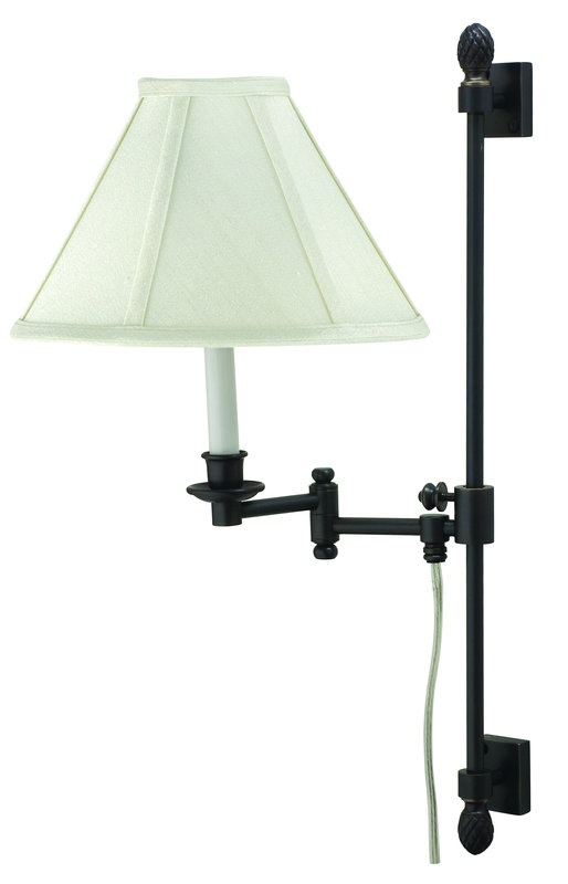 188 house of troy ll662a library 1 light swing arm wall sconce with adjustable height