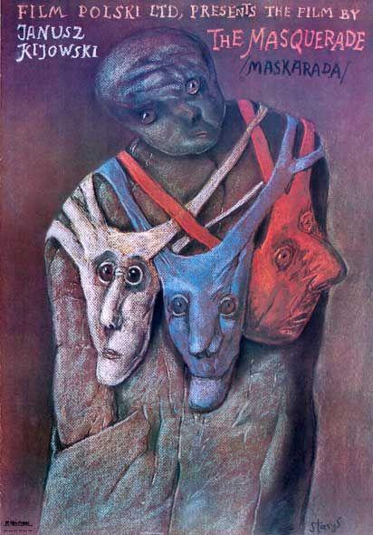 Stasys Eidrigevicius, film poster 'The Masquerade', Janusz Kijowski,