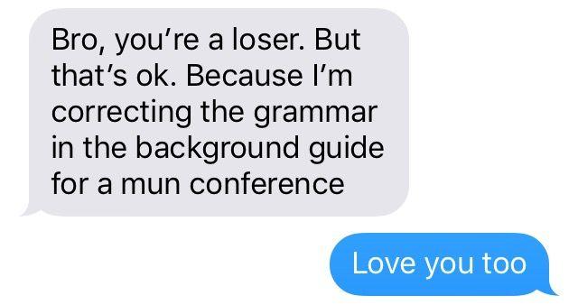 Funny text conversation