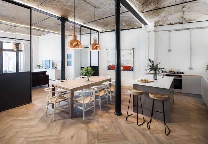 Industrial stye for this flat in London / Stile industriale per questo appartamento a Londra