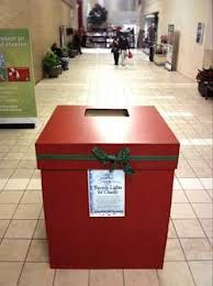 christmas donation box - MM with wider opening in top