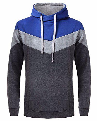 online retailer e43cb 01ef8 MODCHOK Hombre Sudadera con Capucha Deportiva Manga Larga Hoodie Casual  Camisa de Entrenamiento Gris Gris