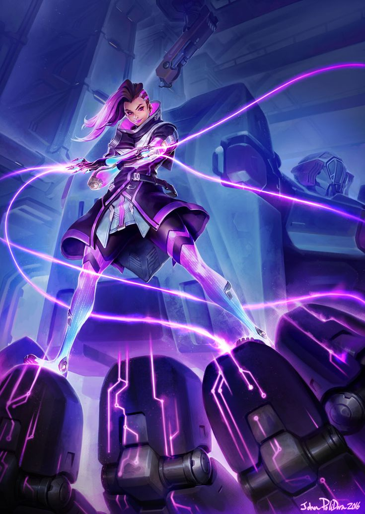 In the seemingly endless cryptic ARG for Sombra, it appears we've had a leak that finally shows us an official image for the mysterious hero. Artwork for Sombra leaked today on the official Blizzard website, the page of which is now unavailable. The artwork is signed by John Polidora, a well-known artist for Blizzard.  Is Sombra just around the corner?