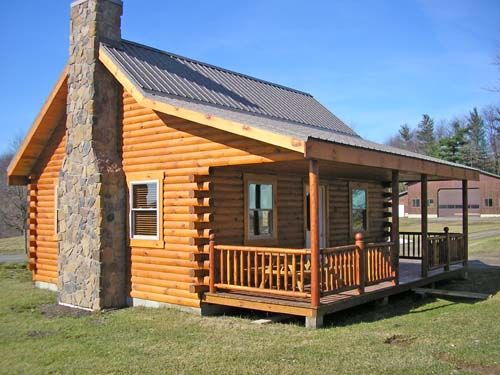 Small Cabin Homes With Lofts | The Union Hill Log Cabin, 800 Square Feet,